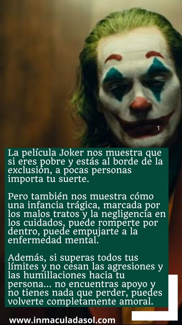 La película Joker nos muestra que ante ser invisible y ser malvado (2)