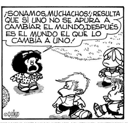 Mafalda ante la crisis